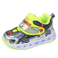 史努比童鞋冬季新款男童运动鞋二棉鞋加绒保暖卡通汽车宝宝学步鞋