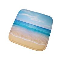 蓝色地中海风格坐垫 办公室餐椅垫沙发垫电竞椅子凳子汽车坐垫 40X40cm