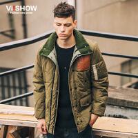 VIISHOW冬装新款棉衣外套 欧美潮流中长款棉服男 保暖棉袄潮 M150154