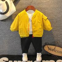 宝宝三件套婴幼儿童春秋装小童春季外套卫衣裤子