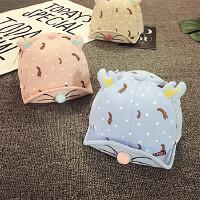 新生婴儿帽子0-3-6-个月春秋男女宝宝帽子薄款夏季儿童鸭舌帽潮