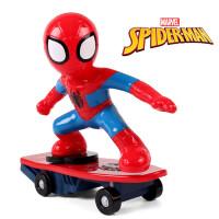 儿童充电动遥控特技滑板车翻滚车男孩玩具蜘蛛侠玩具汽车