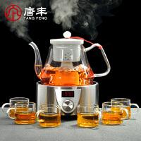 唐丰蒸汽煮茶器玻璃煮茶壶黑茶蒸茶器普洱茶具套装泡茶器电陶炉茶