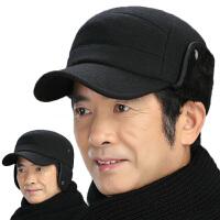 冬季老年人帽子男护耳保暖棒球帽加绒老头帽中老年鸭舌帽爷爷爸爸