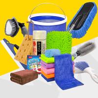 洗车工具刷洗器汽车掸子擦车拖把 海绵刷清洁剂 洗车套装