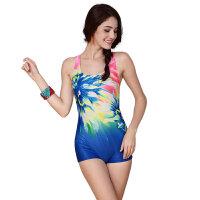 YINGFA英发 女士个性印花连体平角泳衣Y1725 舒适修身泳衣