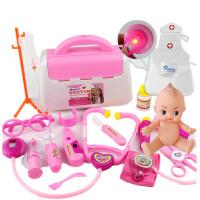 小医生玩具套装工具药箱打针护士男孩儿童医院过家家女孩宝宝 【声光】+娃娃+衣服 粉