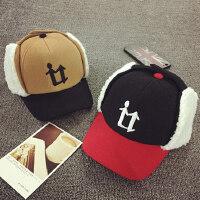 儿童棒球帽冬天护耳帽秋季保暖男女宝宝帽子大童鸭舌帽东北雷锋帽