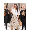 茵曼2018夏季套装女时尚两件套新款纯棉恤配半身裙小清新套装裙【1882251267】