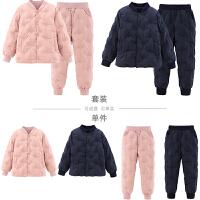 儿童女童男童轻薄羽绒服套装保暖裤宝宝打底女大童