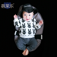 蓓莱乐 女婴儿卫衣0岁7个月男宝宝套头上衣春秋装秋季新款外出服