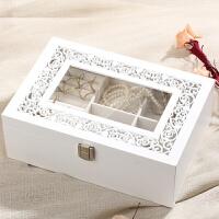 木质首饰盒简约公主欧式韩式中式项链饰品收纳盒情人节结婚礼物女生