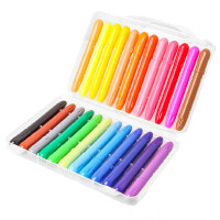送填色本儿童蜡笔无毒可水洗 油画棒彩色笔可旋转涂色涂鸦画笔
