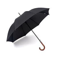 商务木柄雨伞男士长柄伞自动复古双人伞加固风