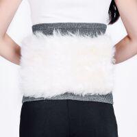 羊绒羊毛护腰带冬季男女士保暖加厚皮毛一体腰部暖宫护肚子护胃