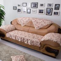 欧式沙发123组合真皮沙发垫毛绒坐垫布艺防滑沙发套沙发罩巾