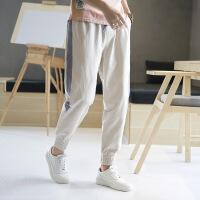 2018夏季新款男士长裤韩版运动裤男裤子哈伦裤小脚休闲裤束裤