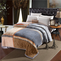 伊丝洁家纺2017秋冬季款拉舍尔毛毯双层加厚毛毯单双人办公室盖毯2x2.3米200x230 200cmx230cm