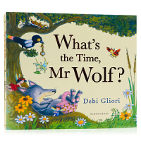 老狼老狼几点了 What's the Time Mr Wolf ? 英文原版进口少儿童低幼儿绘本 张湘君推荐 凯特格林