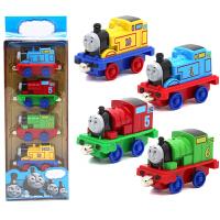 金属高铁地铁小火车套装合金磁性可连接儿童玩具火车头模型回力车