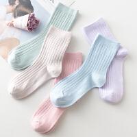 女士休闲中筒棉袜春秋冬季纯棉女袜子不臭脚不掉色复古潮流学生袜 均码