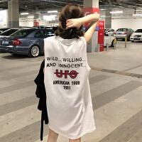 韩观夏装2018新款韩版宽松显瘦中长款无袖T恤裙女冷淡风连衣裙女极简 均码