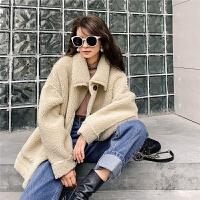 七格格仿皮草外套女2019冬新款中长款韩版宽松羊剪绒皮毛一体上衣