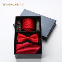 秋季新款五件套真丝领带男士正装商务领结新郎结婚礼盒装