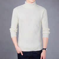 2017冬季新款高领毛衣男士韩版潮流个性针织衫修身线衣线衫打底衫