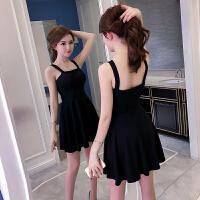 2018新款夏季女装收腰显瘦修身黑色礼服短款裙子吊带连衣裙小黑裙