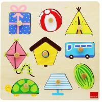 木玩世家 西班牙GOULA果乐 拼图 趣味图形拼图 53031