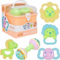 婴幼儿玩具 卡通动物摇铃手提箱玩具组合宝宝儿童早教益智生日礼物