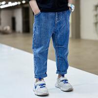 男童牛仔裤春款中大童长裤男孩薄款儿童裤子