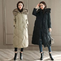 羽绒服女中长款加厚韩国版2017冬季新款长过膝气质连帽修身外套潮