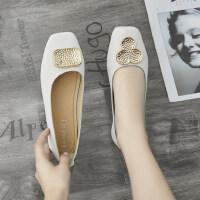 户外时尚女士浅口单鞋韩版休闲舒适平底鞋气质复古鞋