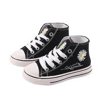 女童高�头�布鞋�和�板鞋男童鞋休�e鞋中大童