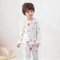 舒贝怡 儿童内衣套装纯棉婴儿空调服长袖儿童家居服套装
