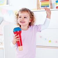Hape回声鸣音麦克风12个月以上婴幼儿音乐玩具早教益智婴幼玩具音乐玩具E0337