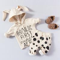 婴儿童套装纯棉0岁3个月新生儿衣服秋季2男女宝宝爬服春秋季衣服