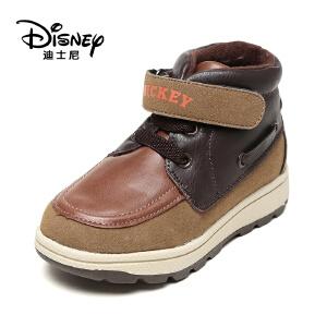 鞋柜/迪士尼冬季儿童短筒短靴平跟休闲运动男童鞋1