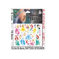 儿童纹身贴白雪公主冰雪奇缘小女孩环保水印贴画纹身刺青贴纸