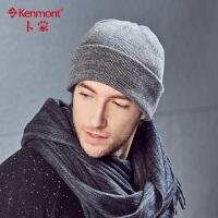 全棉帽子男士套头帽冬季户外针织帽男秋冬青年包头帽中年纯棉冬帽 1706