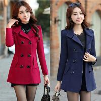 妈妈装毛呢外套女短款30岁40秋冬季新款韩版上衣中年女装妮子大衣