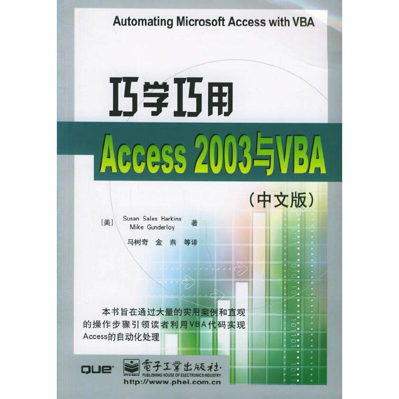 巧学巧用Access2003与VBA(中文版) PDF下载